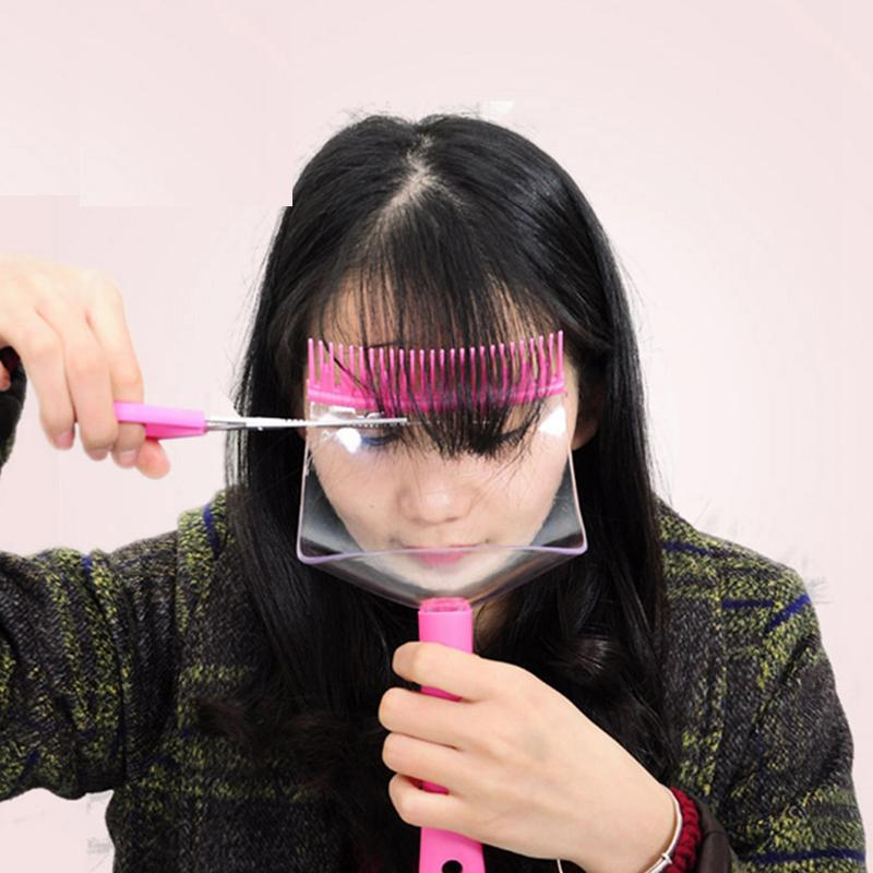 Hot DIY Hair Bangs Fringe Cut Comb Clip Portable Trimmer ...