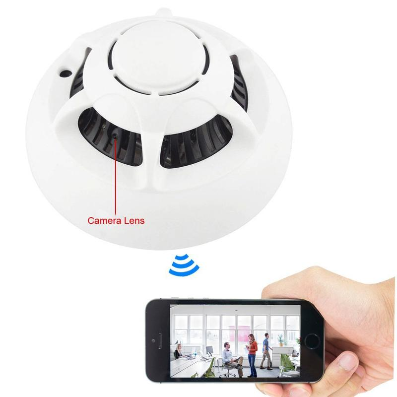 wireless ufo p2p ip camera wifi spy smoke detector motion dvr camcorder video. Black Bedroom Furniture Sets. Home Design Ideas