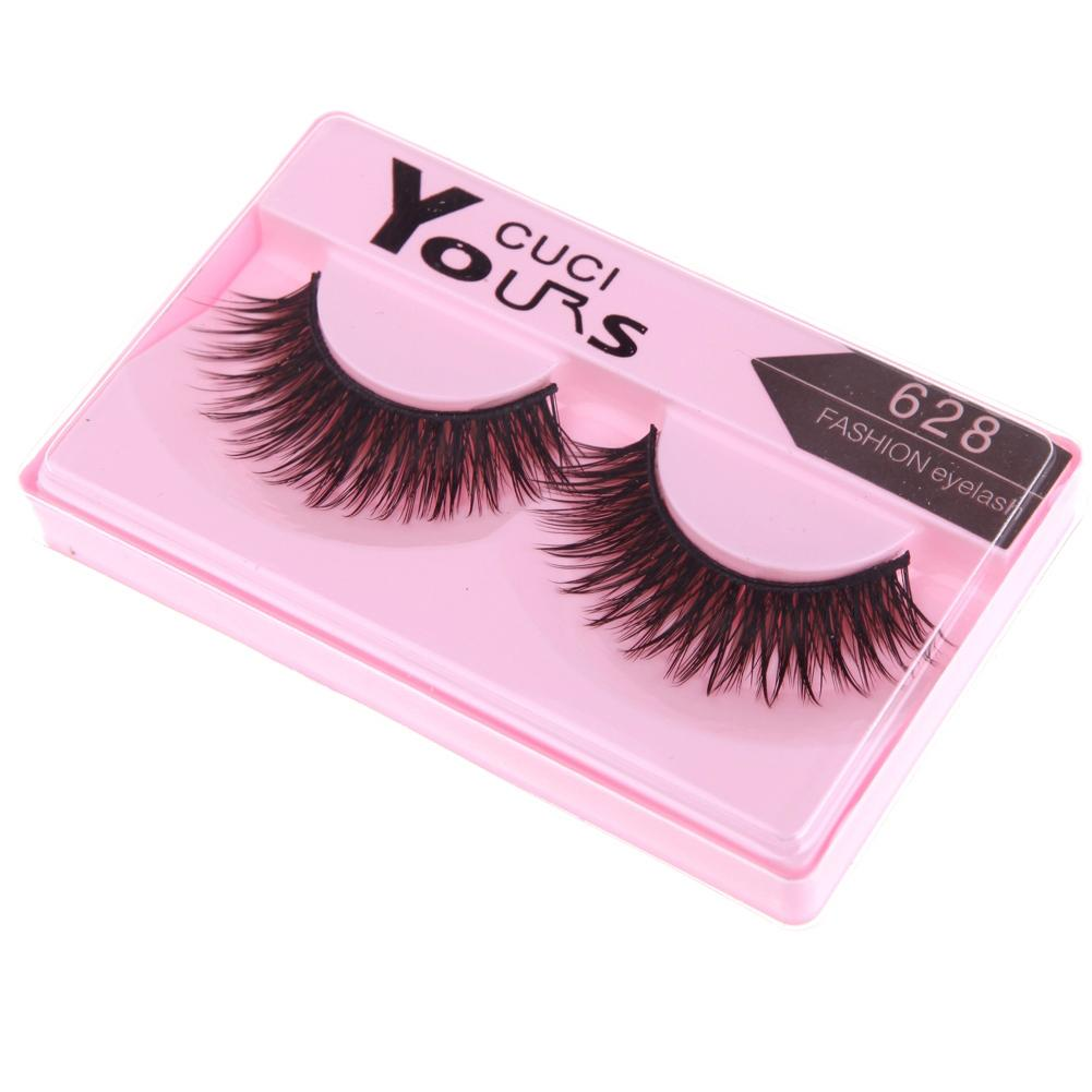 how to make thick big fake lashes smaller
