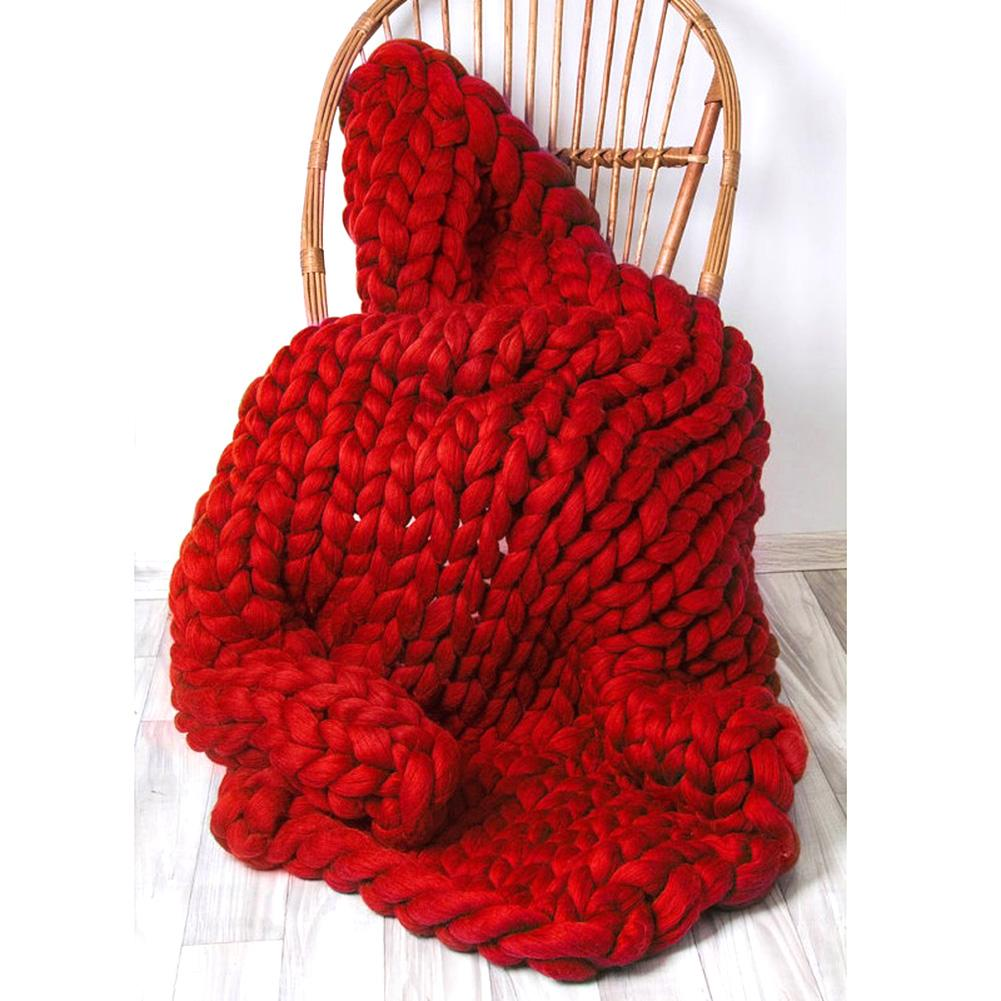 Knitting A Throw Blanket: Chunky Knitted Blanket Thick Yarn Bulky Knitting Throw