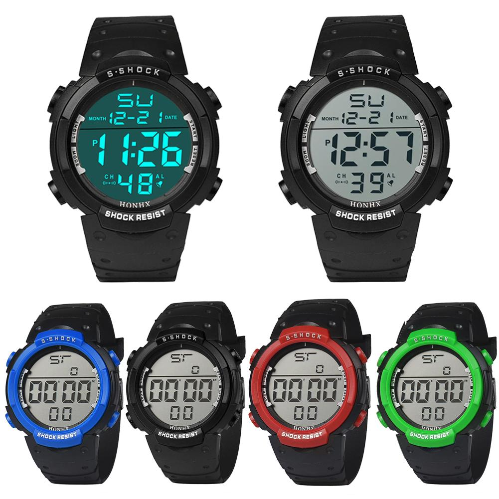 cool s waterproof silicone led digital date