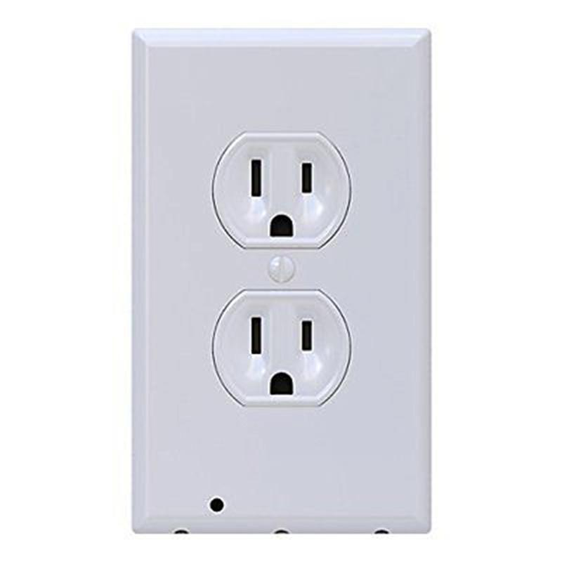 3 LED Decor Night Angel Light Plug Cover Wall Outlet