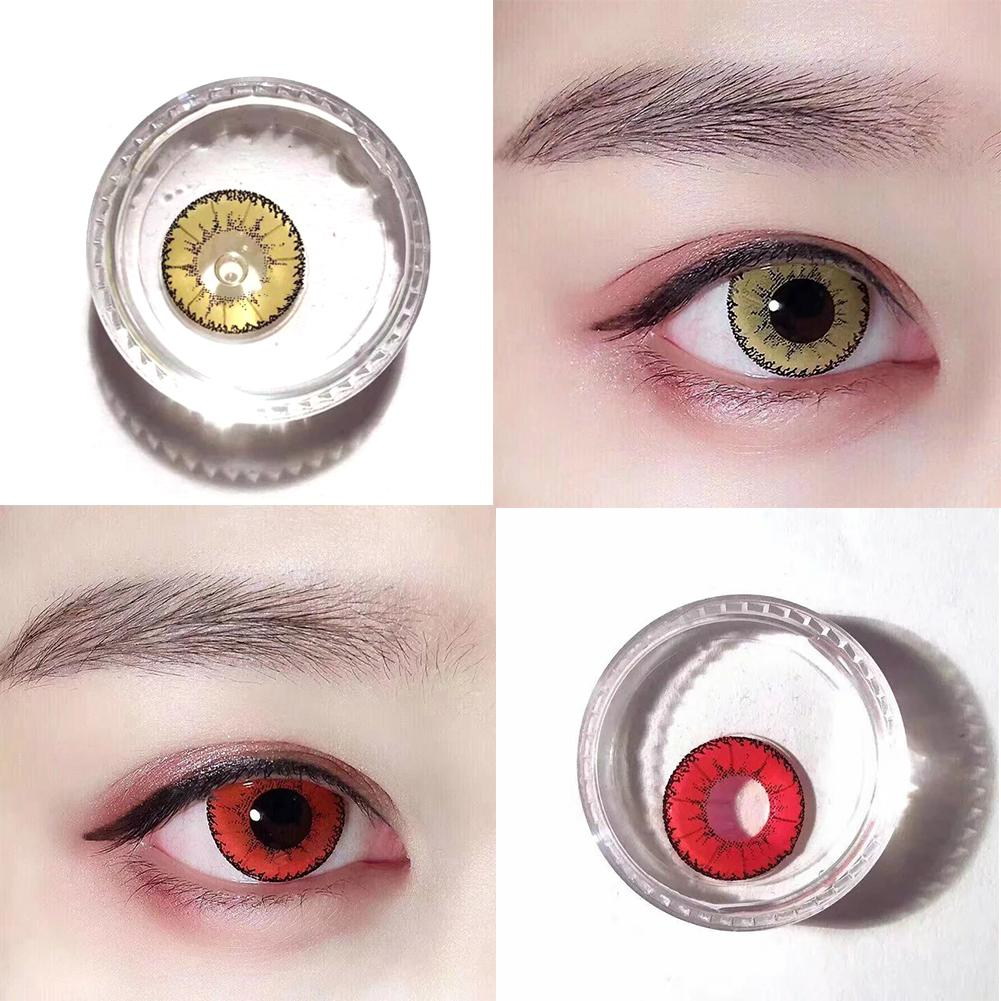 original 1 pair women coloured lenses crazy color contacts halloween