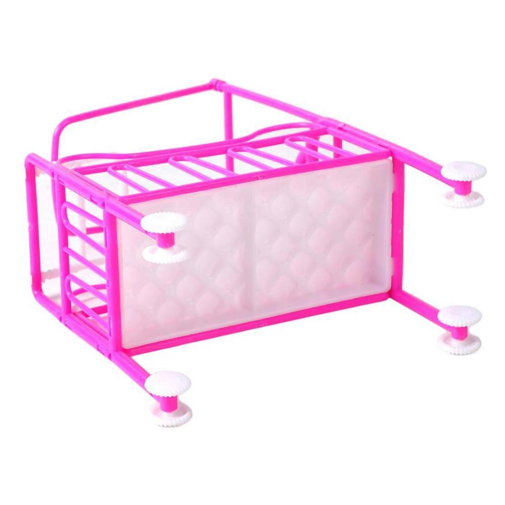 Barbie Bedroom In A Box: Barbie Doll Nursery Cradle Bed Miniature Dollhouse Toy