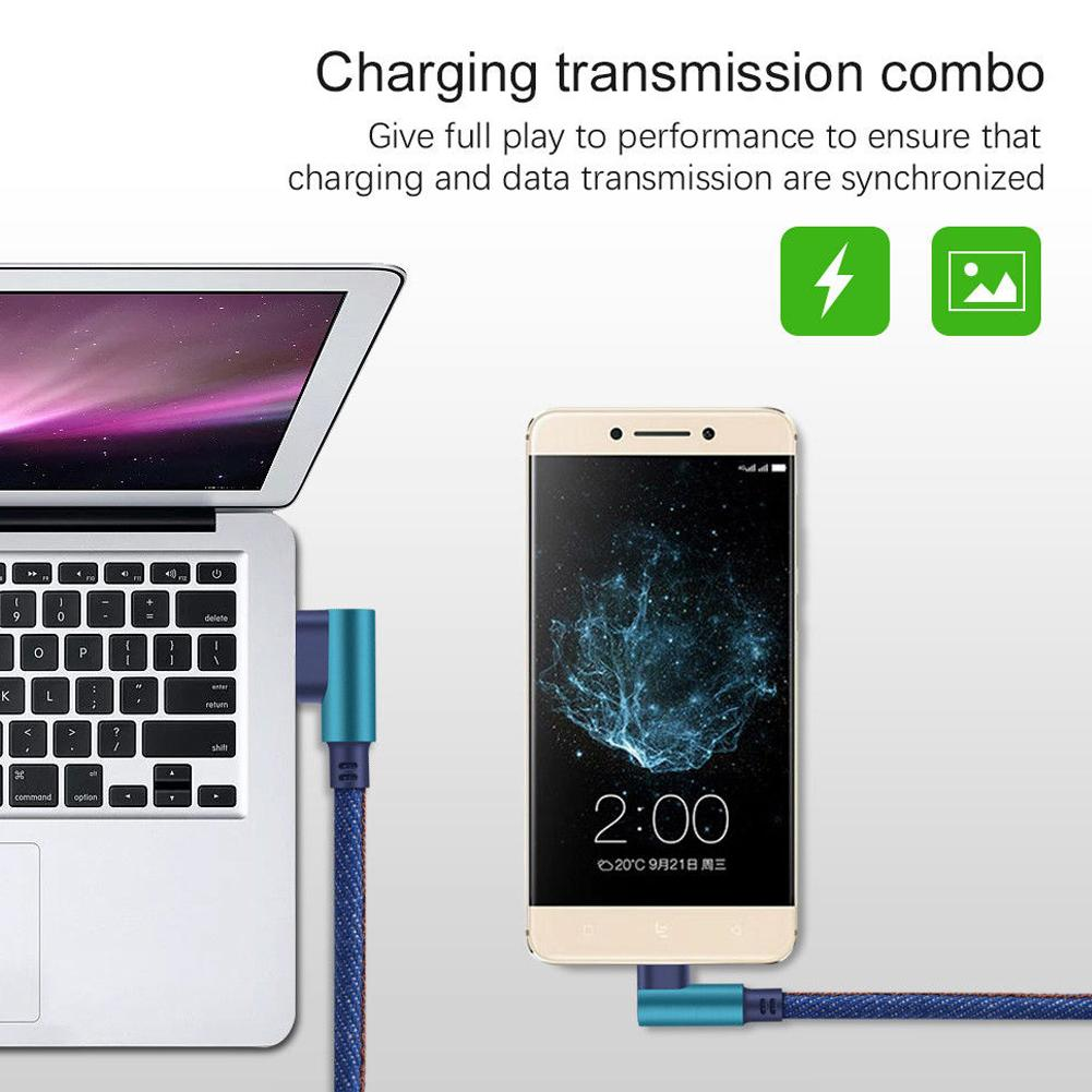 Original 0 25m Type C 90 Degree Right Angle Usb C 3 1 Fast Data Sync Charging Charger