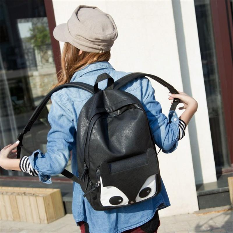 Canvas Multi-style Punk Woman Stylish Backpack Shoulder Casual School Book Bag