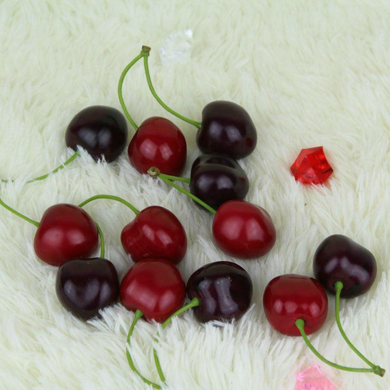 Buyincoins lifelike fake faux cherry artificial fruit for Artificial cherries decoration