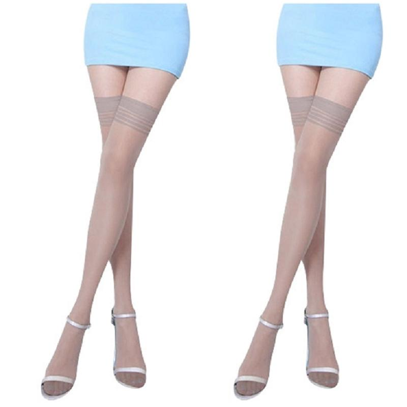Womens Candy Colors Slim Girls Thigh High Striped Socks Over Knee Stockings RTUS