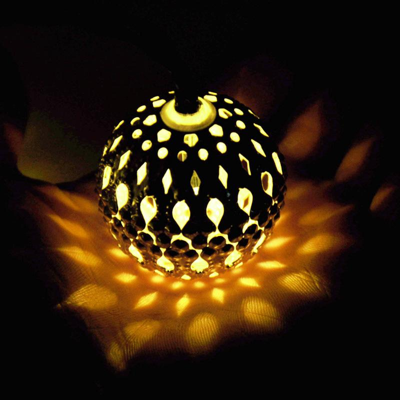 Kikkerland Moroccan String Lights : Moroccan Solar String Lanterns LED Fairy Lights Christmas Balls Night Outdoor eBay