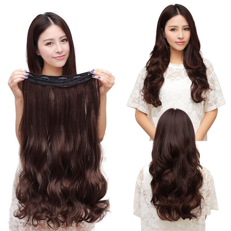 Kilimall 60cm Clip In Synthetic Human Hair Extensions Long Wavy