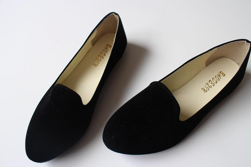 New-Women-Boat-Shoes-Casual-Flat-Ballet-Flats-Loafers-Single-Shoes