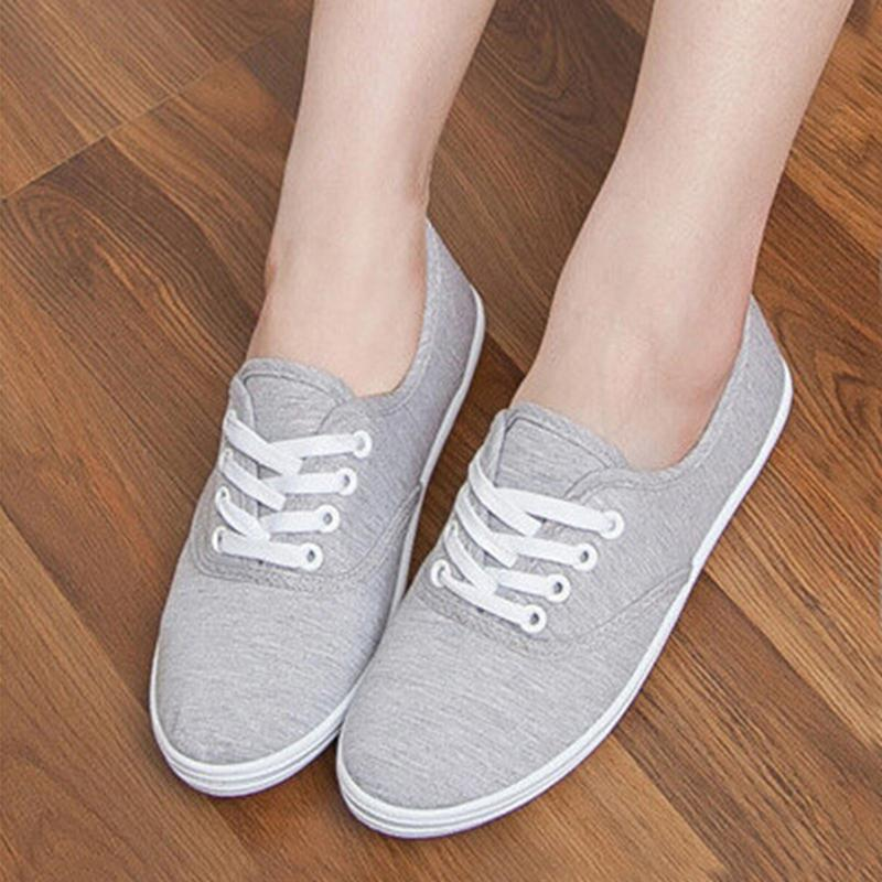 Women Girl Playful Low Breathable Sneakers Flat Canvas Shoes Casual Soft DBUS