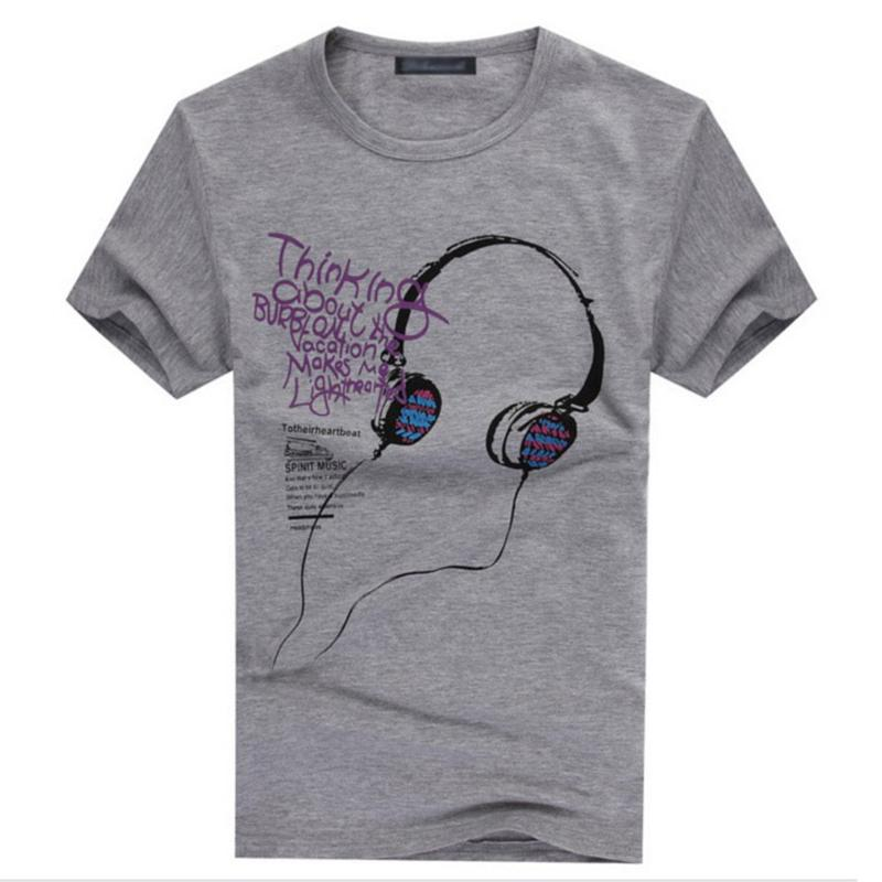 Many styles men clothing round collar printed class t for Collar t shirt printing