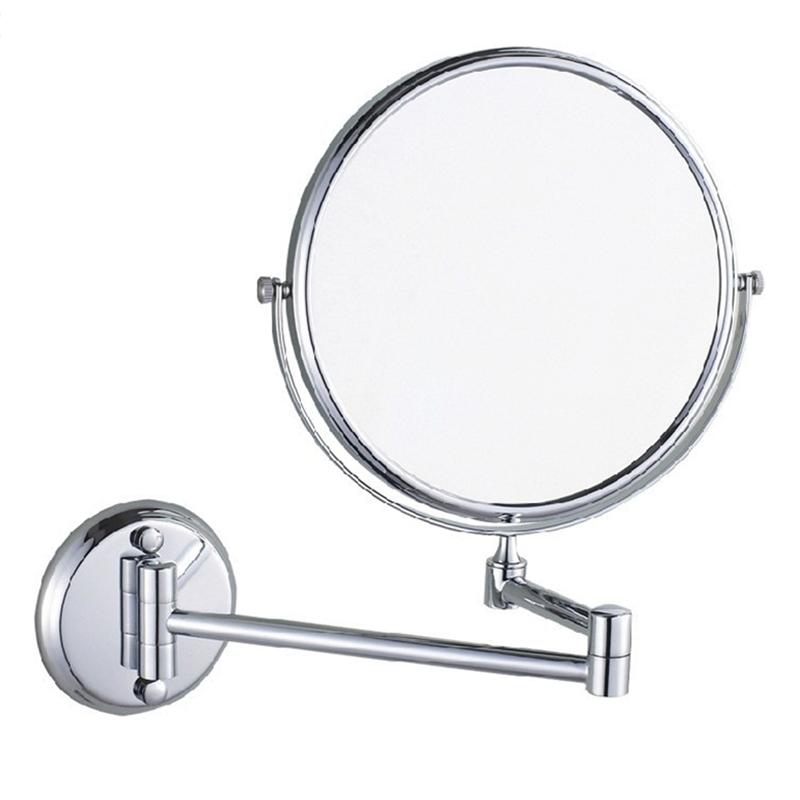 magnification wall mounted makeup mirror 8 inches extending folding double side ebay. Black Bedroom Furniture Sets. Home Design Ideas