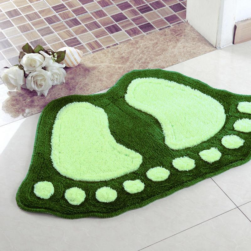 Buyincoins cute anti slip big feet absorbent bathroom for Big w bathroom mats