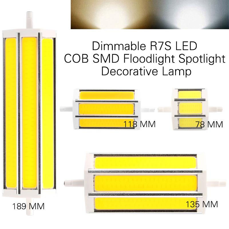 Dimmable r7s led smd 5050 5730 2835 spotlight bulbe lampe for Bulbe
