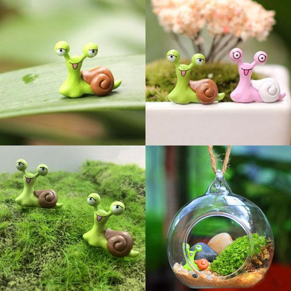 Buy Doll Furnishing Articles Resin Crafts Home Decoration: Cute Garden Ornament Miniature Snail Resin Craft Fairy