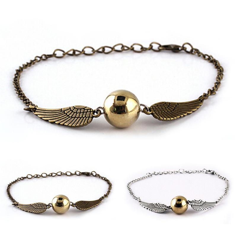 harry potter inspired bracelet snith deathly hallows wing