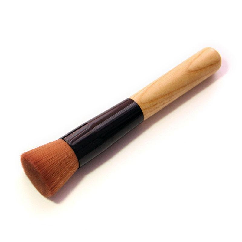 Bamboo Foundation Blush Angled Flat Top Base Liquid Brush Cosmetic Makeup