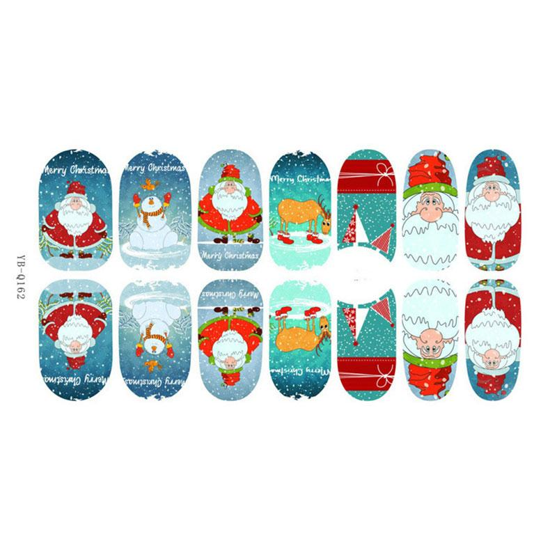 Christmas Nail Art Transfer Stickers 3D Fresh Manicure Tips Decal Decoration CA