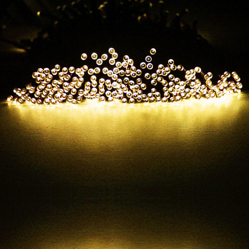 Led Outdoor Party String Lights: Pretty LED Solar Power String Lights Party Xmas Wedding