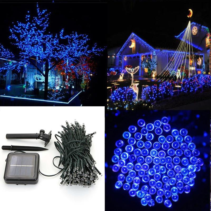 Unique LED Solar Power String Lights Party Xmas Wedding Outdoor Tree Decor La