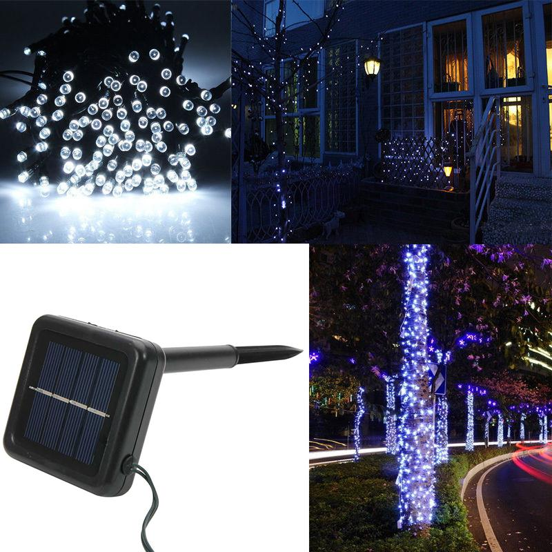 Unique String Lights Outdoor : Unique LED Solar Power String Lights Party Xmas Wedding Outdoor Tree Decor Lamp eBay