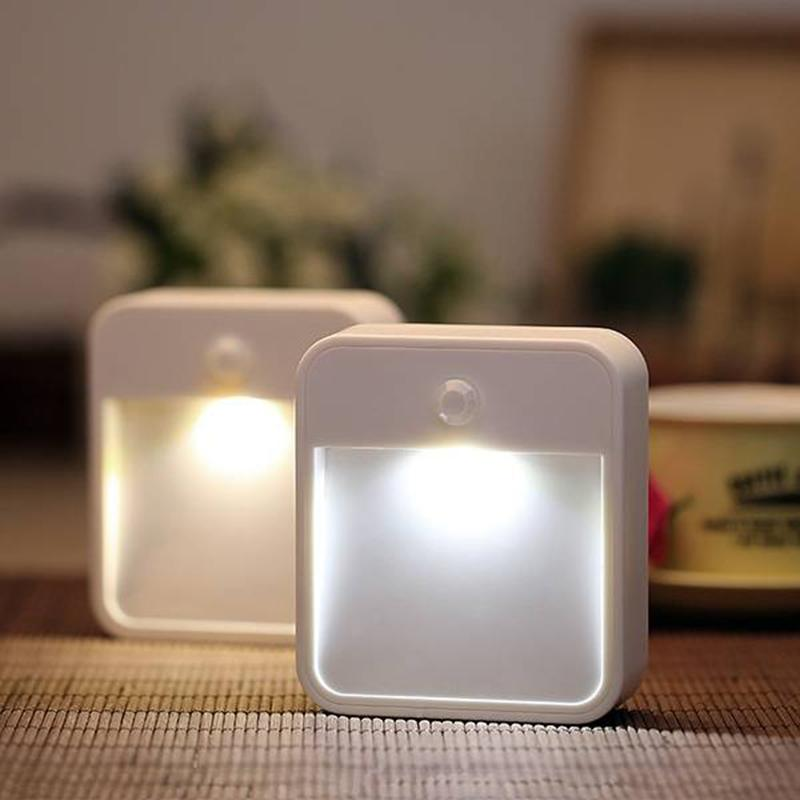 useful wireless pir motion sensor led night light bedroom. Black Bedroom Furniture Sets. Home Design Ideas