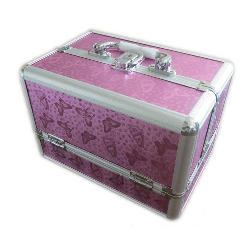 pro large beauty cosmetic box sequins make up vanity case. Black Bedroom Furniture Sets. Home Design Ideas