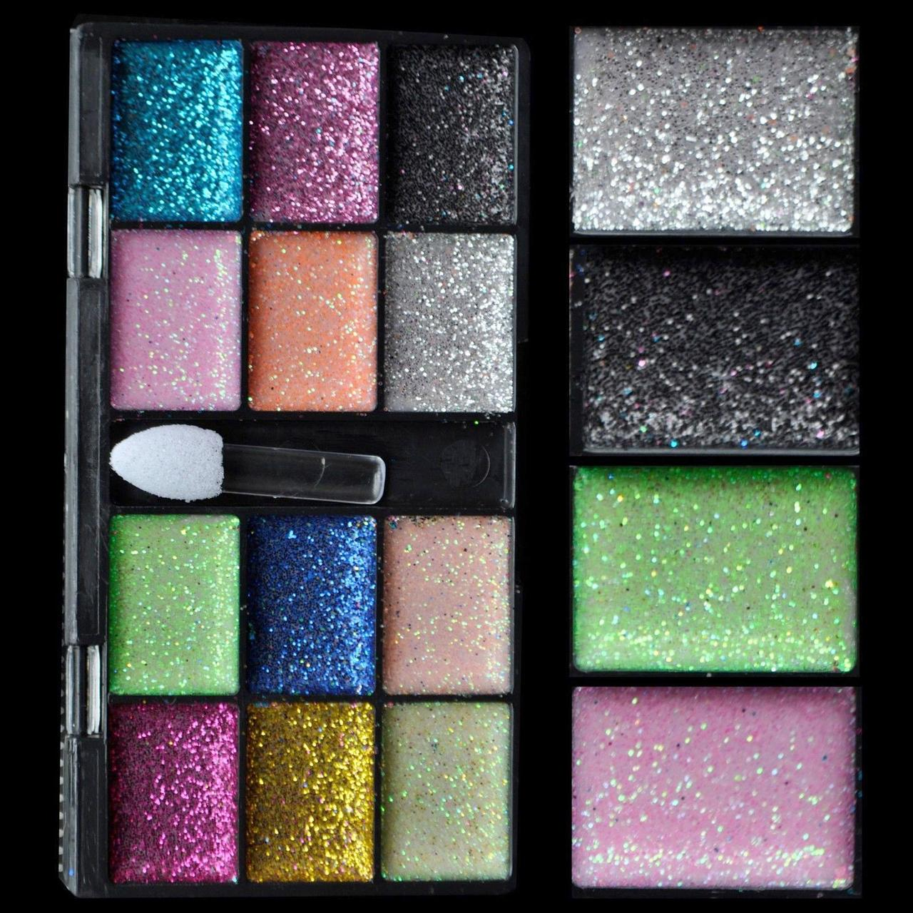 12 Color Lady Warm Sparkle Glitter Makeup Cream Eyeshadow ...
