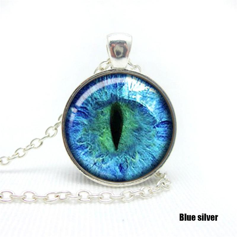 unique colored cat eye glass cabochon plated