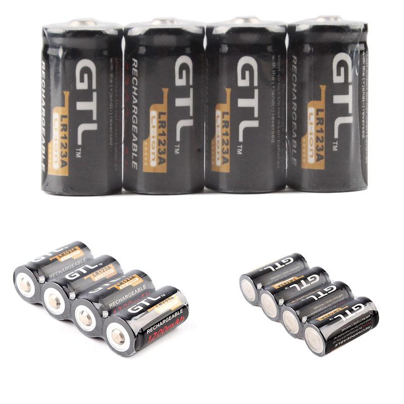 useful 4 piles gtl 16340 battery accus rechargeable cr123a lr123a 3v 1200mah ebay. Black Bedroom Furniture Sets. Home Design Ideas