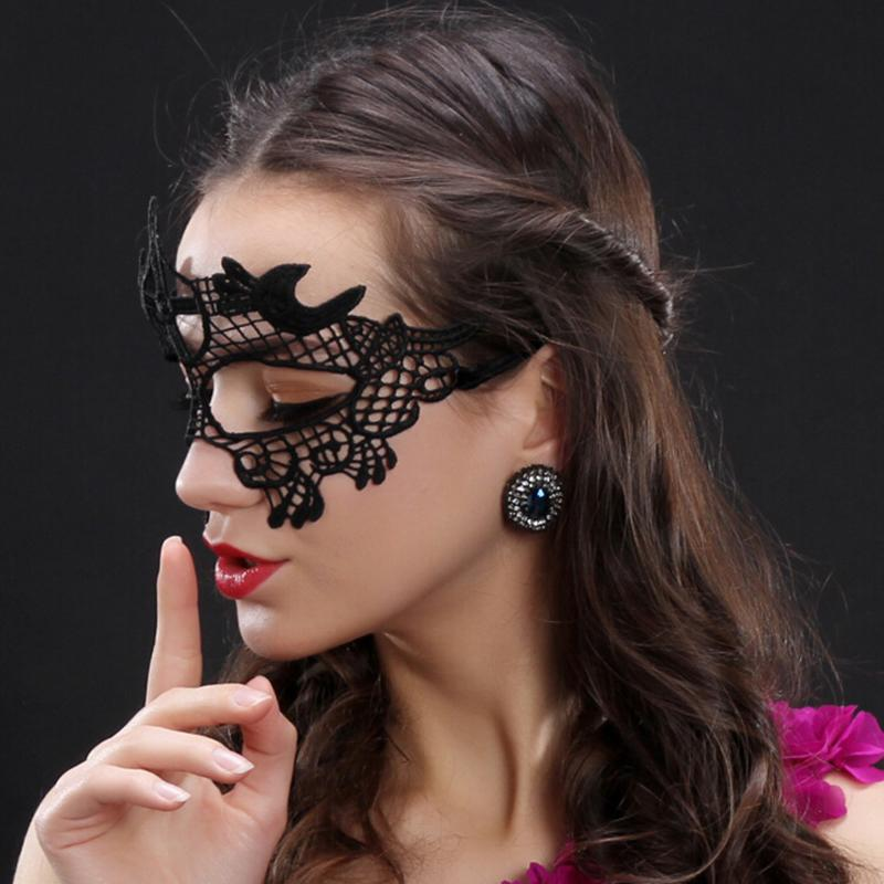 Sexy Women Black Lace Eye Face Mask Masquerade Party Ball . 67c680c36