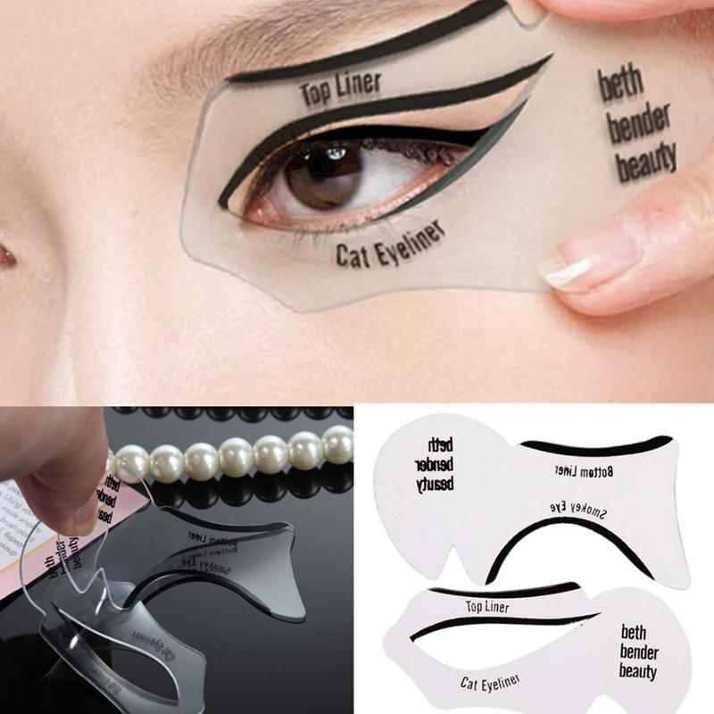 Stencils for eye makeup