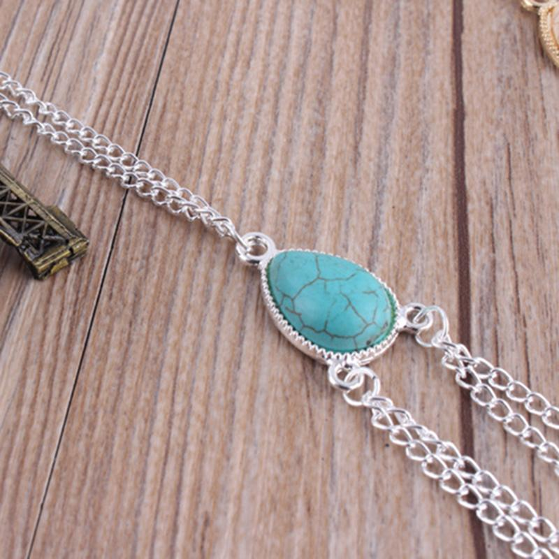 Sexy beach gold silver turquoise waist belly necklace body for Necklace belly chain jewelry