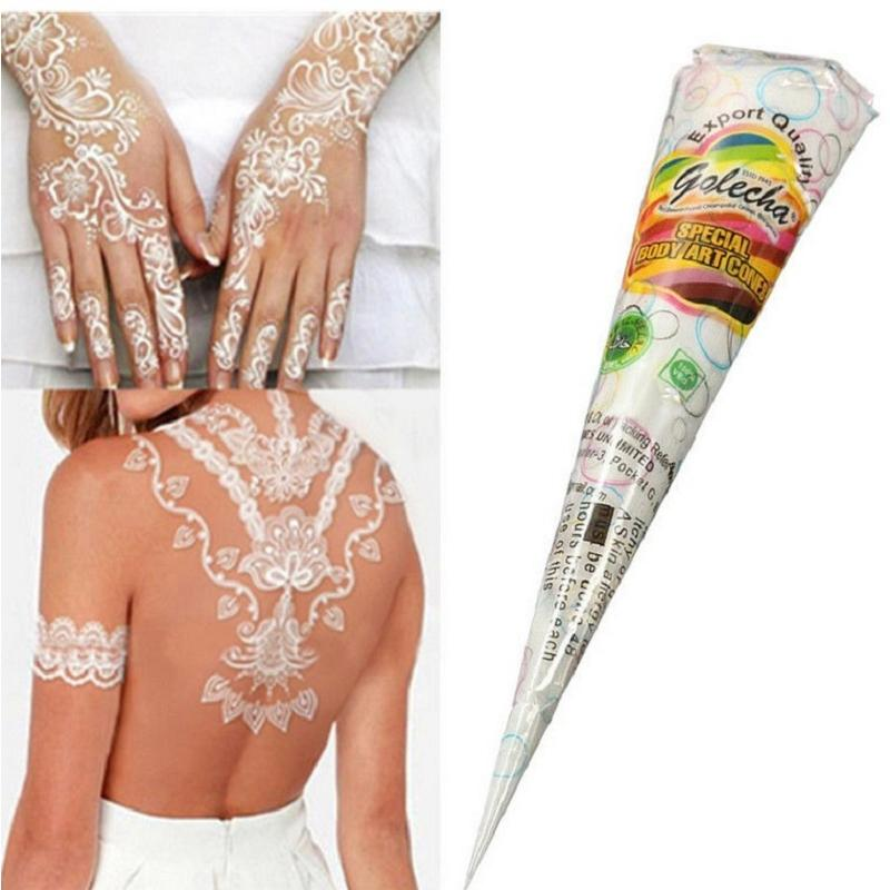 Pretty temporary tattoo body art paint natural herbal for Henna body tattoo