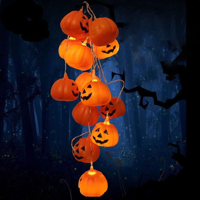 Halloween String Lights Outdoor : 20LED Halloween Party Pumpkin Lights String Fairy Pretty Lamp Outdoor Decoration eBay