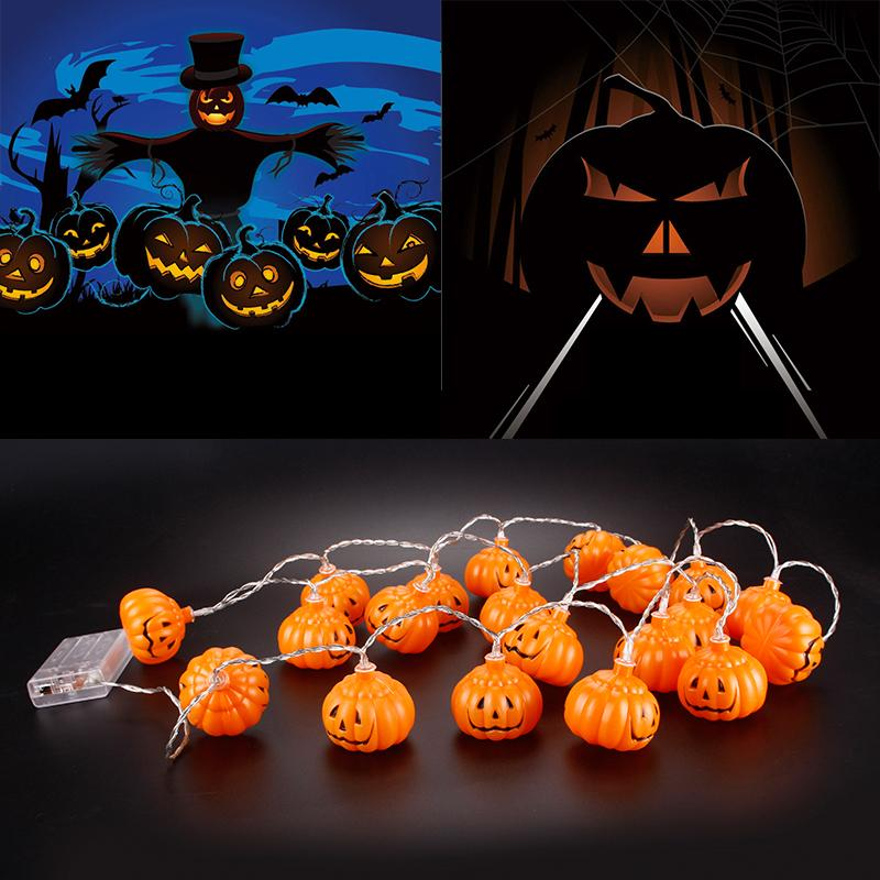 Halloween String Lights Outdoor : 20LED Halloween Party Pumpkin Lights String Fairy Cute Lamp Outdoor Decoration eBay