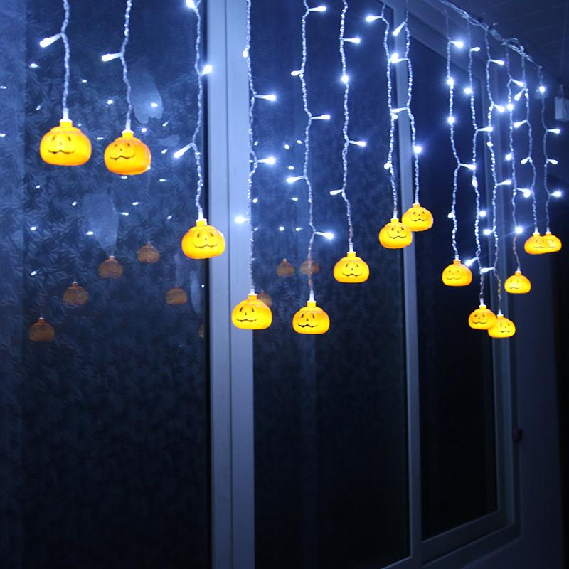 Halloween String Lights Outdoor : 16 Pumpkin/Skull Halloween Party Led Lights String Fairy Cool Lamp Outdoor Decor eBay
