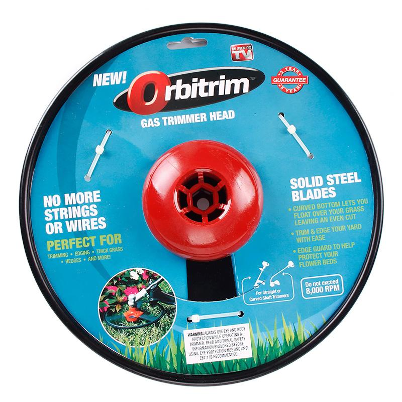 new orbitrim gas trimmer head no string wires cleaning