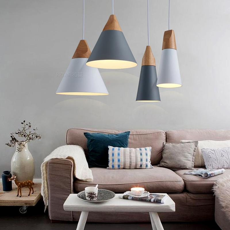 Fashion E27 Wood Pendant Ceiling Hanging Lamp Chandelier