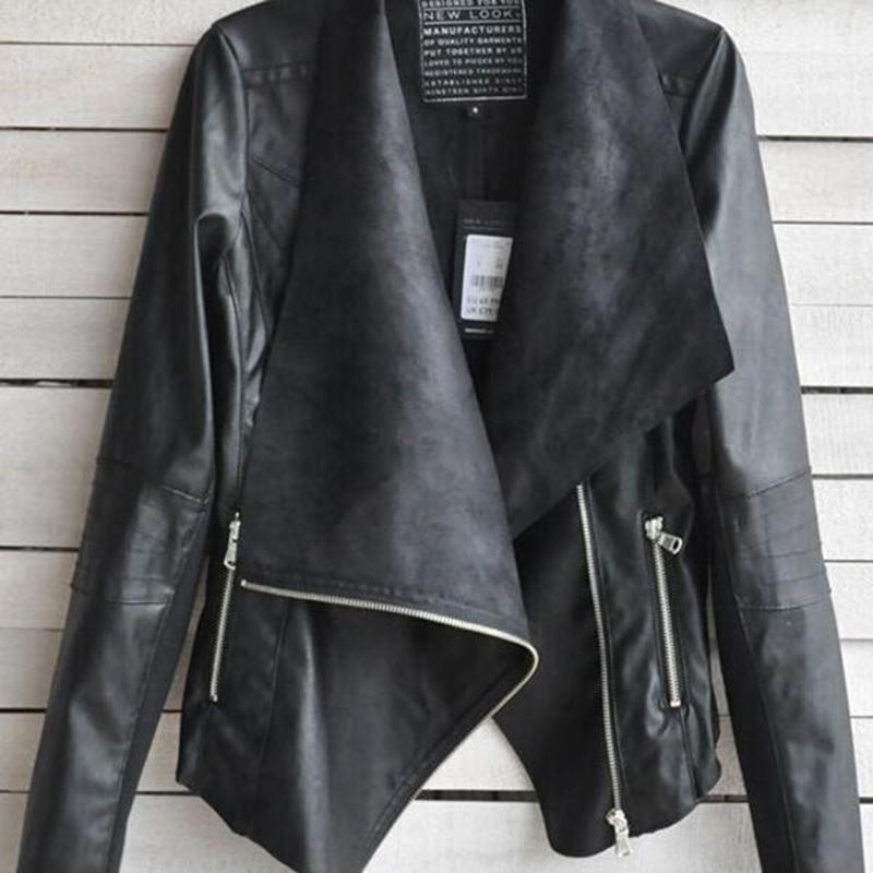 Womens Black Leather Motorcycle Jacket M | eBay