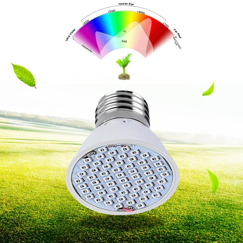 36 led e27 4w grow light lamp veg flower indoor hydroponic plant full spectrum. Black Bedroom Furniture Sets. Home Design Ideas